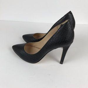 Jessica Simpson Shoes - Jessica Simpson faux leather snake print heel sz 6